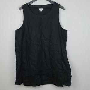 J. Jill 100% Linen Black Lagenlook Tank Size Xl